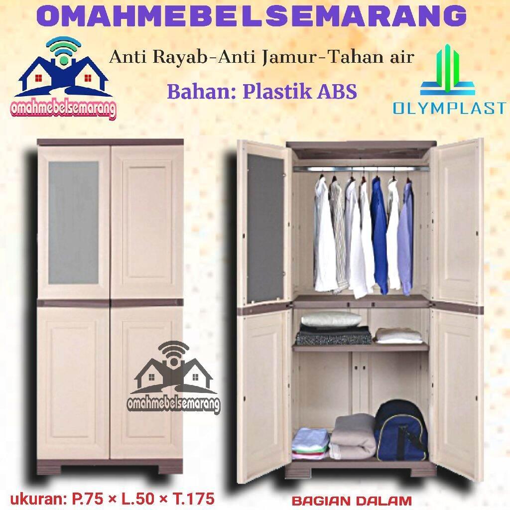 Lemari Pakaian 2 Pintu Plastik Olymplast Omc Fgc Almari Baju Minimalis Lazada Indonesia Gambar lemari pakaian minimalis